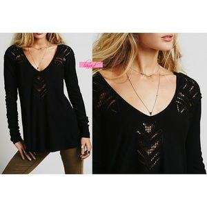 FP Moonrise Cutwork Thermal Black Cut-Outs Lace XS